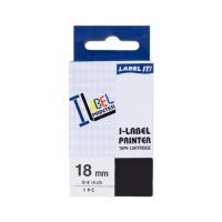 PRINTLINE kompatibilní páska s Casio XR-18X1 18mm, 8m černý tisk/průhledný podkl.
