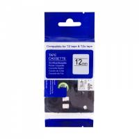 PRINTLINE kompatibilní páska s Brother TZE-135, TZ-135, 12mm, bílý tisk/průsvitný podklad