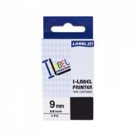 PRINTLINE kompatibilní páska s Casio, XR-9BU1, 9mm, 8m, černý tisk/modrý podklad