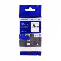 PRINTLINE kompatibilní páska s Brother TZE-125, 9mm, bílý tisk/průsvitný podklad