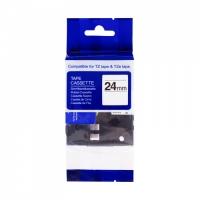 PRINTLINE kompatibilní páska s Brother TZE-153, 24mm, modrý tisk/průsvitný podklad