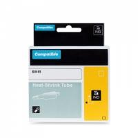 PRINTLINE kompatibilní páska s DYMO 18051, 6mm,1.5m,černý tisk/bílý podkl.,RHINO, bužírka