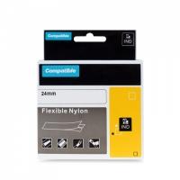 PRINTLINE kompatibilní páska s DYMO 1734524, 24mm,3.5m,černý tisk/bílý p, RHINO, nyl.flexi