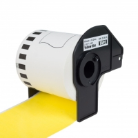 PRINTLINE kompatibilní etikety s Brother DK-22606, žlutá filmová role 62 x 15,24m