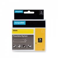 PRINTLINE kompatibilní páska s DYMO 1734525,24mm,3.5m,černý tisk/žlutý p, RHINO, nyl.flexi