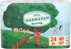 Toaletní papír Harmasan 24 - dvouvrstvý, recykl, návin 20,5 m, 24 rolí