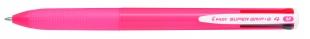Čtyřbarevné kuličkové pero Pilot Super Grip-G4 - 1 mm, plastové, růžové