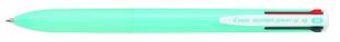 Čtyřbarevné kuličkové pero Pilot Super Grip-G4 - 1 mm, plastové, světle modré