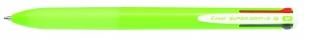 Čtyřbarevné kuličkové pero Pilot Super Grip-G4 - 1 mm, plastové, světle zelená