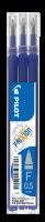 Náplň do přepisovatelného rolleru Pilot FriXion 2065 - 0,25 mm, plastová, modrá, 3 ks
