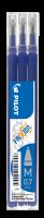 Náplň do přepisovatelného rolleru Pilot FriXion Ball 2067 - 0,35 mm, plastová, modrá, 3 ks