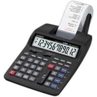 Stolní kalkulačka s tiskem Casio HR 150 RCE - 1 řádek, 12 znaků, černá