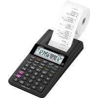 Stolní kalkulačka s tiskem Casio HR 8 RCE BK - 1 řádek, 12 znaků, černá