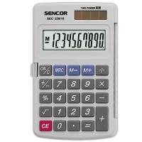 Kapesní kalkulačka Sencor SEC 229/10 Dual - 1 řádek, 10 znaků, šedá