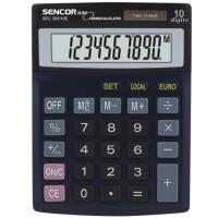 Stolní kalkulačka Sencor SEC 393/10E Dual - 1 řádek, 10 znaků, černá