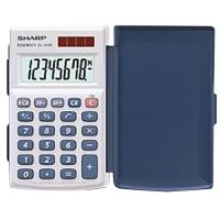 Kapesní kalkulačka Sharp EL-243 S - 1 řádek, 8 znaků, bílá