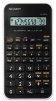 Školní kalkulačka Sharp EL-501 XWH - 1 řádek, 131 funkcí, černo-bílá - DOPRODEJ
