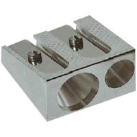Ořezávátko Duo - kovové, 2 otvory, stříbrné