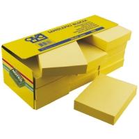 Samolepící bloček - 38x51 mm, 100 listů, žlutý