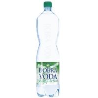 Jemně perlivá voda Dobrá voda - PET, 1,5 l, 6 ks
