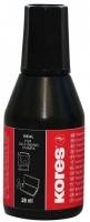 Razítková barva Kores - černá, 28 ml