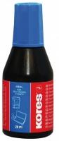 Razítková barva Kores - modrá, 28 ml