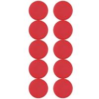 Plastové magnety Centropen 9795/10 - průměr 28 mm, červené, 10 ks