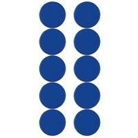 Plastové magnety Centropen 9795/10 - průměr 28 mm, modré, 10 ks