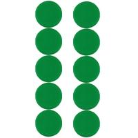 Plastové magnety Centropen 9795/10 - průměr 28 mm, zelené, 10 ks