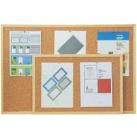 Jednostranná korková tabule - 90x120 cm, dřevěný rám