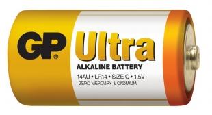 Alkalické baterie GP Ultra 1,5 V - malé mono, LR14, typ C