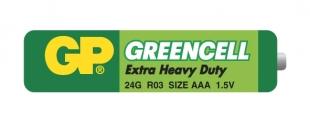 Zink-chloridové baterie GP Greencell 1,5 V - mikrotužka, R03, typ AAA