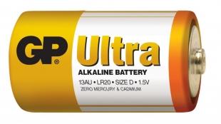 Alkalické baterie GP Ultra 1,5 V - velké mono, LR20, typ D