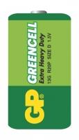 Zink-chloridové baterie GP Greencell 1,5 V - velké mono, R20, typ D