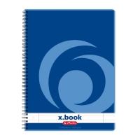 Kroužkový college blok A4 Herlitz x-book - linkovaný, boční spirála, s děrováním, 80 listů