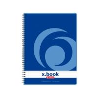 Kroužkový college blok A5 Herlitz x-book - linkovaný, boční spirála, s děrováním, 80 listů