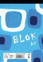 Šitý poznámkový blok A5 Eko - linkovaný, recyklovaný, 50 listů