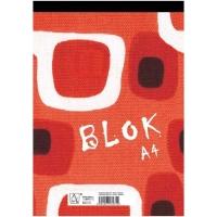 Šitý poznámkový blok A6 Eko - linkovaný, recyklovaný, 50 listů