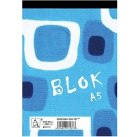 Šitý poznámkový blok A6 Eko - čistý, recyklovaný, 50 listů