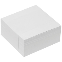 Poznámkový bloček kostka - lepený, 9x9 cm, bílý, 400 lístků