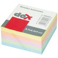 Poznámkový bloček kostka - nelepený, 8,5x8,5 cm, barevný, 400 lístků