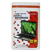 Čisticí trhací ubrousky na LCD a notebooky Logo - dóza, 50 ks