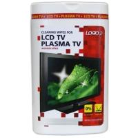 Čisticí trhací ubrousky na LCD a plasmy Logo - dóza, 50 ks