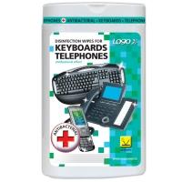 Čisticí trhací ubrousky na klávesnice a telefony Logo - dóza, dezinfekční, 50 ks