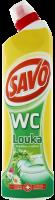 Čistící a dezinfekční prostředek Savo WC - louka, 750 ml