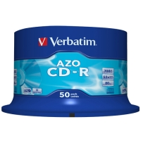 CD-R Verbatim Super AZO 700 MB - 52x, bez možnosti potisku, cake box, 50-pack