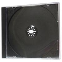 Obal na 1 CD - plastový, 10,4 mm, trasparentní/černý