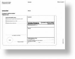 Obálka B6 s doručenkou a poučením Správní řád - samolepící, bez pruhu, odtrhávací, 1000 ks