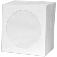 Papírová obálka na CD - s okénkem, 125x125 mm, bílá, 1 ks