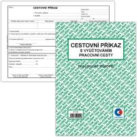 Cestovní příkaz ET 230 - s vyúčtováním pracovní cesty, A5, 50 listů
